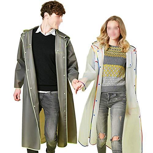 Giacca Fashion Abbigliamento Elegante Antipioggia Impermeabile Giacca Traspirante Traslucido Moda Impermeabile Sciolto Raincoat Poncho Adulto Incappucciato FIafqSw