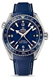 omega rubber watch - Omega Planet Ocean GMT Blue Dial Blue Rubber Mens Watch 23292442203001