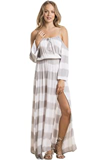 e29fd12ad4f ELAN Hi Lo Maxi Dress with Shorts at Amazon Women s Clothing store