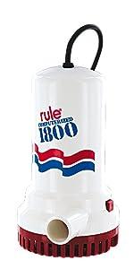 Rule A53 Series 1800 GPH Submersible Sump / Utility Pump, Corded, 110 Volt AC