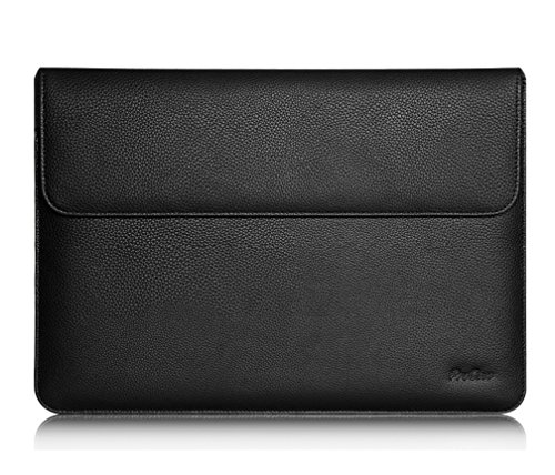 ProCase iPad Pro 12.9 2018/2017/2015 Case Sleeve, Cushion Protective Sleeve Bag Cover for Apple iPad Pro 12.9, Compatible with Apple Smart Keyboard, Document Pocket and Apple Pencil Holder (Black)