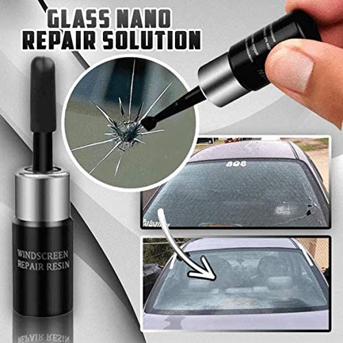 FunDiscount Car Windshield Repair Resin Cracked Glass Corrector Set Crack Repairing Tool for Car Wind Shield Cell Phone Screen 1pc,White FD Automotive Glass Nano Repair Fluid