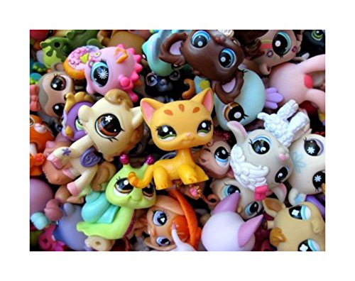 Littlest Pet Shop LPS 10 PC Lot Random Surprise Grab Bag 5 Pets & 5 Accessories MINIFIGURE by Unbranded