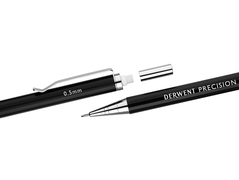 Derwent Precision Mechanical Pencil Set 0.7mm or 0.5mm Leads /& HB 2B Refills