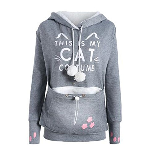 mio Kangroo Gray gatto Questo è Hoodies Costume Pouch Hooded Hoodies Carrier Pullover LEDBEE il Pet gwqvxtg