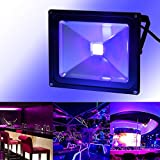 UV Black Light, CHINLY Outdoor High Power 50W Ultra Violet LED Flood Light, IP65-Waterproof for DJ Disco Night Clubs, Blacklight Party, Stage Lighting, Fluorescent effect, Neon Glow, Glow in the dark