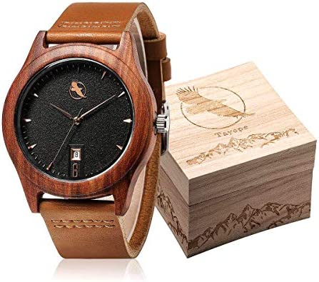 Tayope Wooden Wristwatches Leather Engraved product image