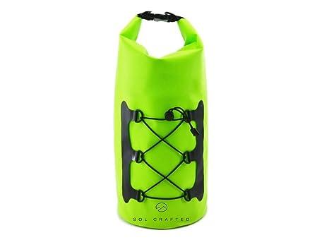 Sol Crafted Super ligero impermeable 10L bolsa seca – verde – perfecto como una playa,