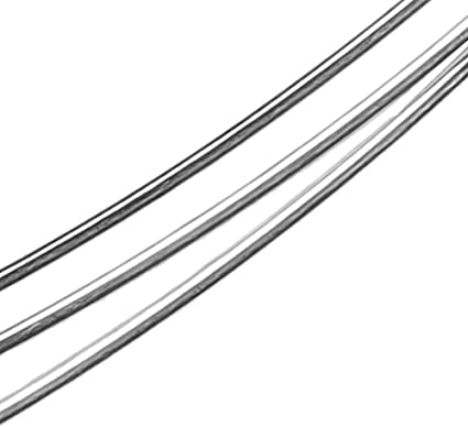 Crafting Supplies 19 Foot Silver Artisan Wire Medium Temper Silver Jewelry Wire Non Tarnish Silver Plated Wire Large Coil Wire