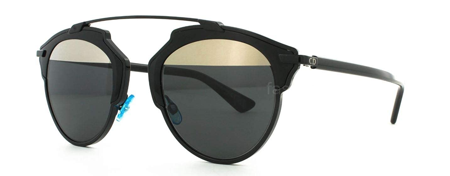 fb0ec819351d Amazon.com: Christian Dior - Soreal/S - 0BOY 48 - Sunglasses (Shiny  Black/Grey Lens) …: Clothing