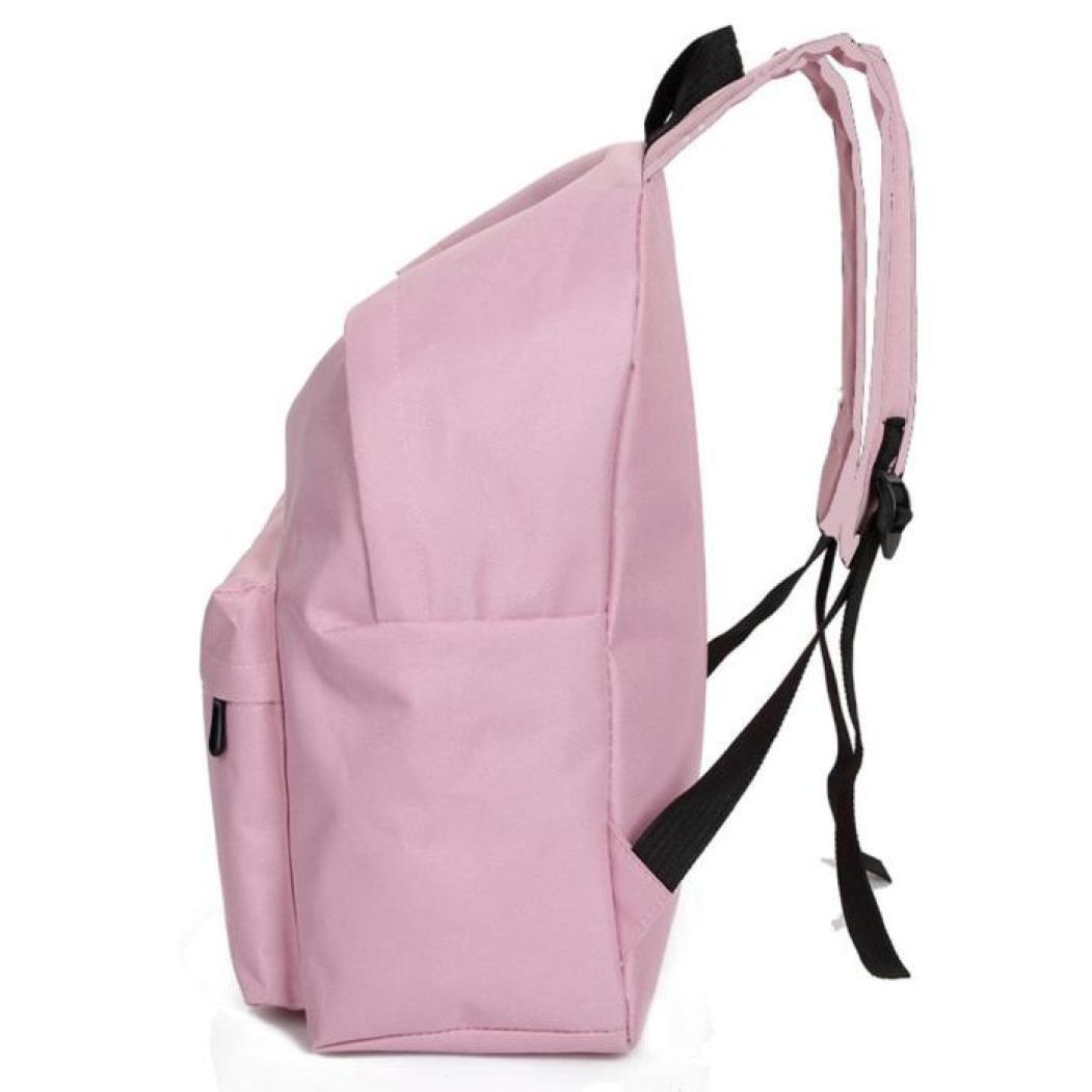 Bolso, Manadlian Unisexo Mochila de lona Niños niñas Mochila escolar Bolsa de hombro (40*32*12cm(L*H*D), Rosa): Amazon.es: Hogar