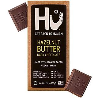 Hu Chocolate Bars | 12 Pack Hazelnut Butter Chocolate | Natural Organic Vegan, Gluten Free, Paleo, Non GMO, Fair Trade Dark Chocolate | 2.1oz Each