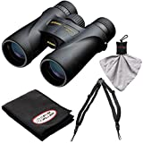 Nikon Monarch 5 7577 10x42 ED ATB Waterproof/Fogproof Binoculars with Case + Easy Carry Harness + Cleaning Cloth Kit