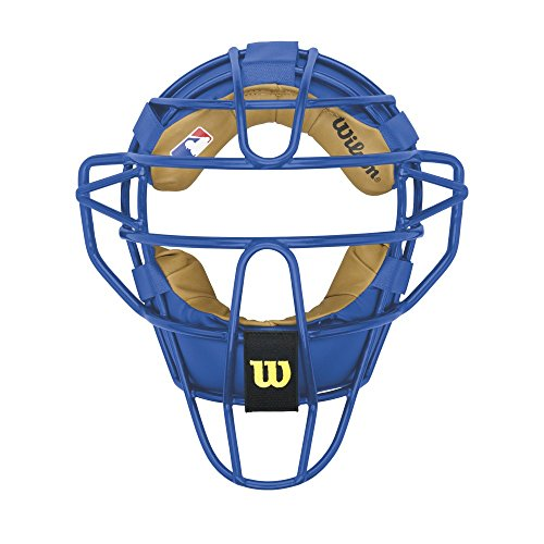 Wilson Dyna-Lite Steel Catcher's Facemask, Royal Blue