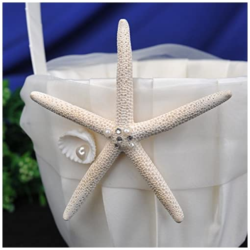 starfish flower girl basket and ring pillow