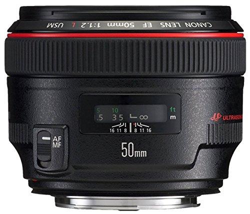 Canon EF 50mm f/1.2L USM Ultra-Fast Standard AutoFocus Lens - International Version (No Warranty) by Canon