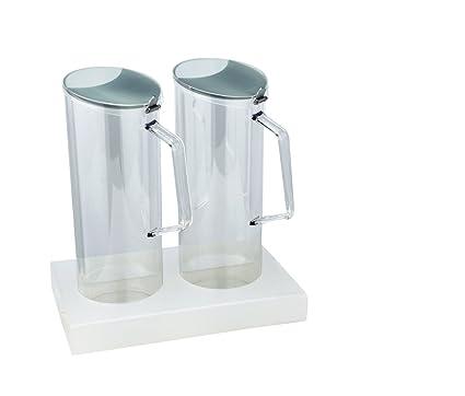 Expendedor de muesli y cereales Dispensador Dispensador de 2 x 1,5 litros, policarbonato