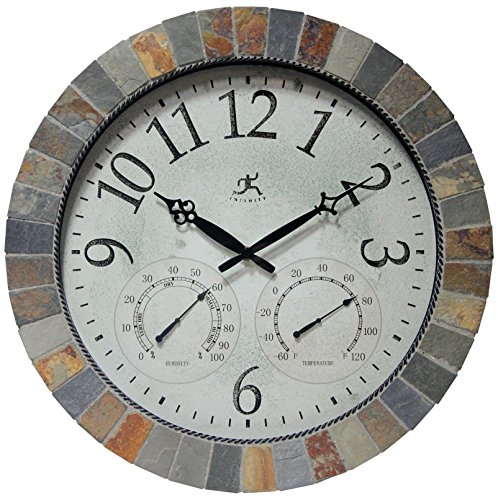 Infinity Instruments Inca Indoor/Outdoor Mosaic Wall Clock