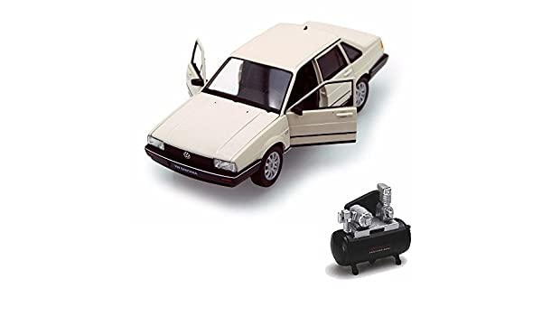 Amazon.com: Welly Diecast Car & Air Compressor Package - Volkswagen Santana, Ivory 24036 - 1/24 Scale Diecast Model Toy Car w/Air Compressor: Toys & Games