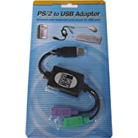 Adesso PS/2 to USB Adapter, connects 2 PS/2 connectors to...