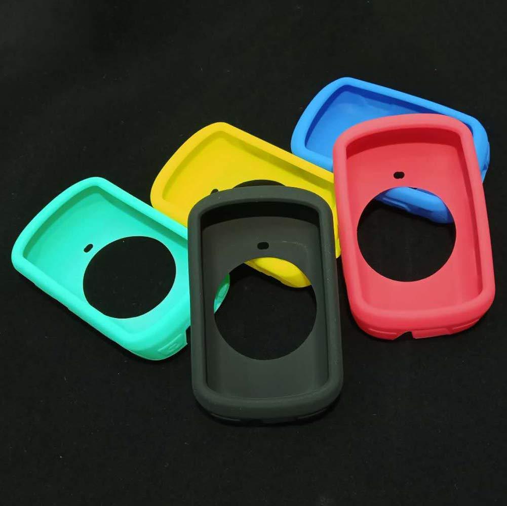 Nero Bicicletta Computer Custodia Morbido Silicone Pieno Hion Pelle Mini Cover Bicicletta Elastico Proteggi Schermo Graffi Resistente Fallproof Ricambio Accessori per Garmin Edge 530