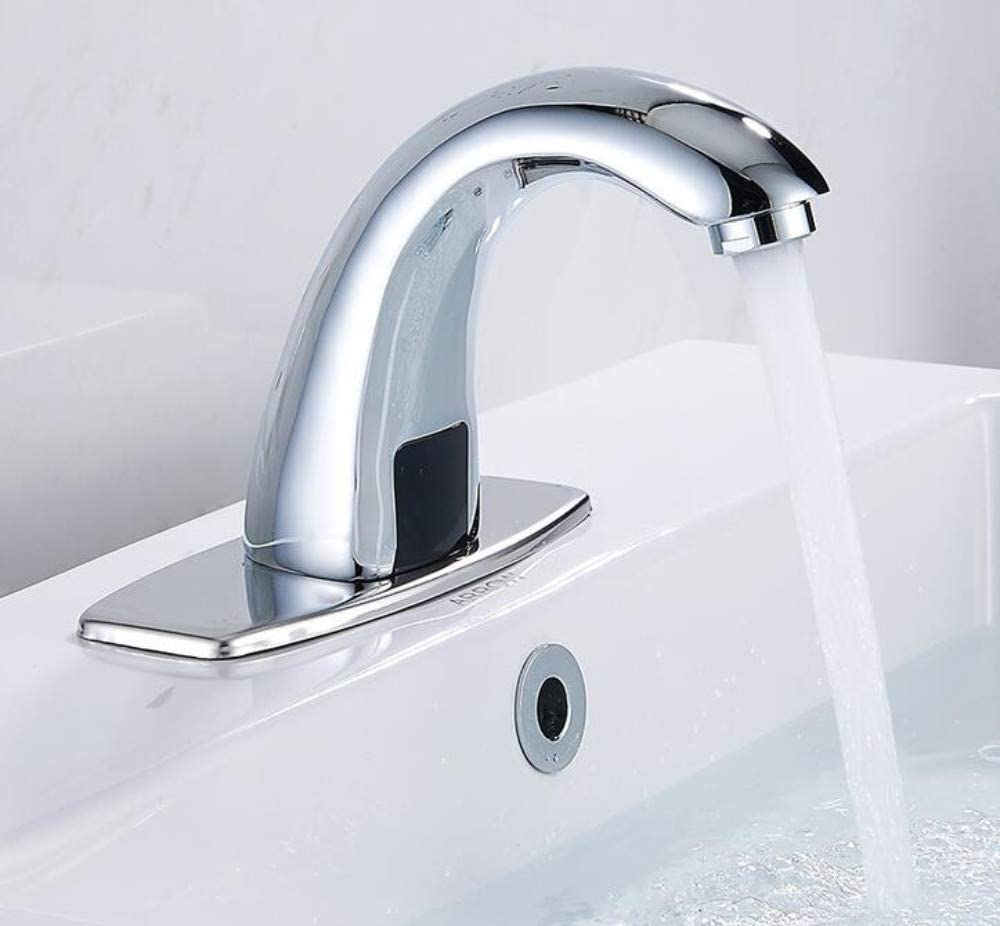 Details about  /Automatic Sink Sensor Infrared Water Tap W// Control Box Bathroom Basin Faucet US
