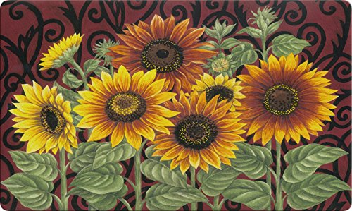 (Toland Home Garden Sunflower Medley 18 x 30 Inch Decorative Floor Mat Fall Autumn Flower Seasonal Doormat)
