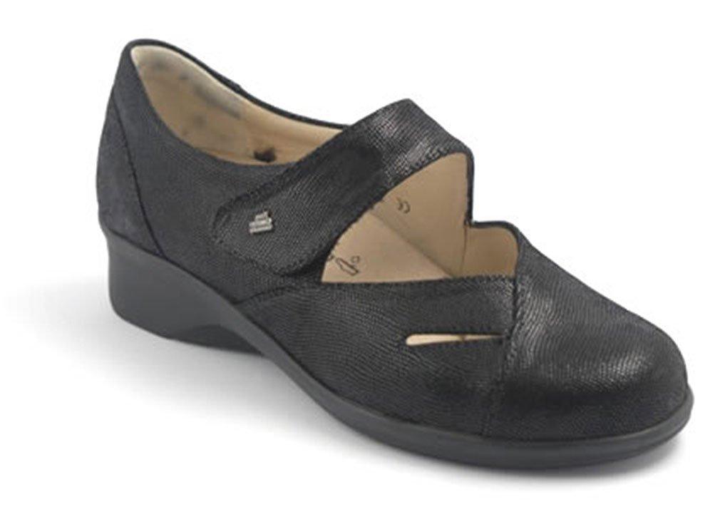Finn Comfort Women's Aquila,Black Karunga Leather,UK 5 M