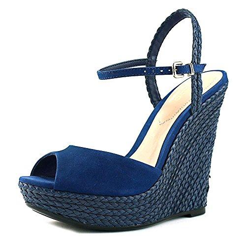 ALDO Womens Shizuko Peep Toe Casual Ankle Strap Sandals, Navy, Size 6.0