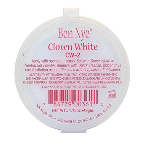 Clown White Makeup, 1.75oz./49gm.]()