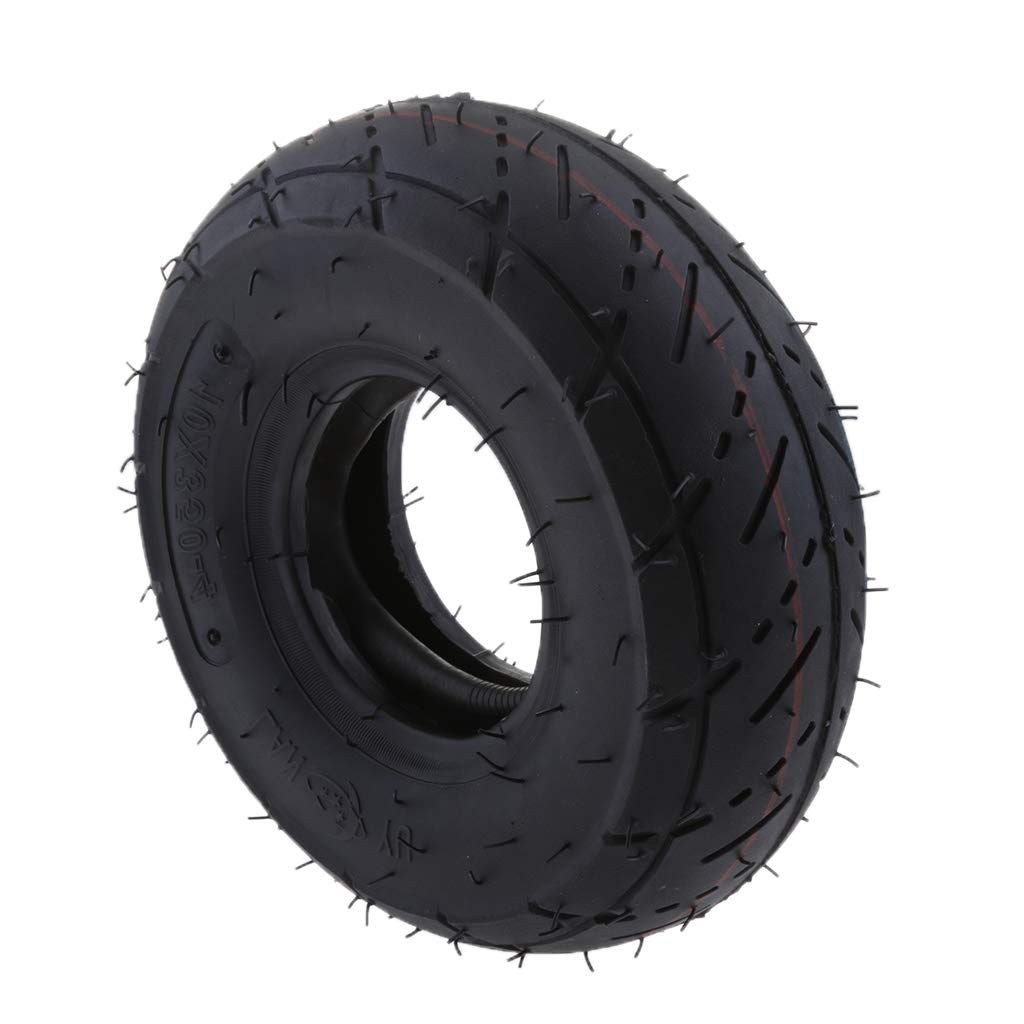 Scooter for Mini ATV Quad,49cc 2-stroke Go Kart Premium Replacement Mobility Scooter Tire Tube Almencla Tyre and 3.00-4 Inner Tube