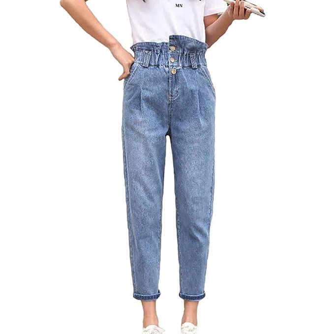 XRFC-ZM Pantalones vaqueros de mujer, pantalones harén de ...
