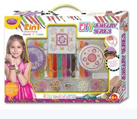 XinBooming Arts and Crafts for Girls - Best Birthday Toys/DIY for Kids - Premium Bracelet(Jewelry) Making Kit - Friendship Bracelets Maker by XinBooming
