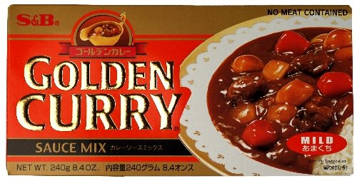 S&B Golden Curry Sauce Mix, Mild, 8.4-Ounce - Curry Powder Rice
