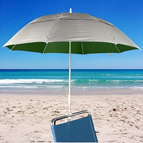 Cl& Fiberglass Umbrella for Beach Chairs UPF 100 & Amazon.com : Clamp Fiberglass Umbrella for Beach Chairs UPF 100 ...