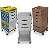 TrippGo Easily Identifiable Disposable Cart with 5 Drawers by TrippNT, 51715, 16'' x 34'' x 17'' (Pack of 50)
