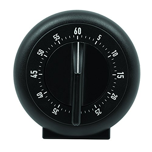 MARATHON TI030001BK-25 60 Minute Mechanical Wind-Up Timer - Black (25 Pack) by Marathon