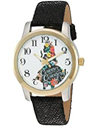 Disney Womens Alice in Wonderland Quartz Metal Watch, Color:Black (Model: W002901)