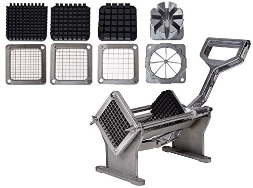GHP Commercial Potato/Fruit/Vegetable Cutter/Slicer w 4 Cutting Blades