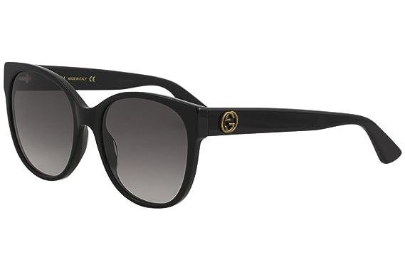 Amazon.com: anteojos de sol Gucci GG 0097 S- 001 001 negro ...