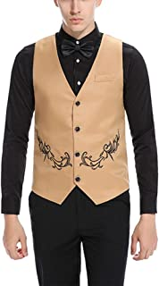 Geschenke Mens Single Breasted Slim Fit Formal Wedding Party Office Meeting Suit Blazer Waistcoat Vest Valentines Gifts None
