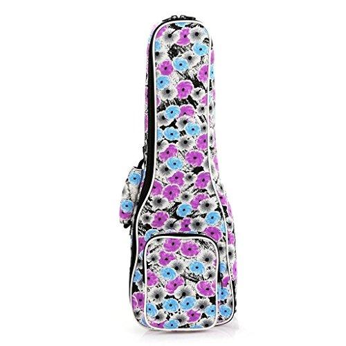 ELEOPTION Durable Ukulele Bag Case Concert 3D Geometric Patterned Ukulele Bag Ukulele Cover Case Ukulele Accessories Backpack With Adjustable Straps (21inch, Patterned 001)