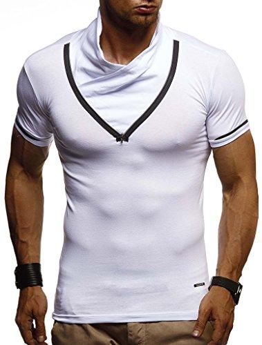 T Nelson Hommes Sweatshirt Leif shirt Des Fit Weiss Pour Ln670 Slim q6wCC7I