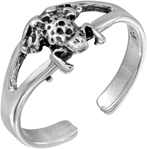 Gift  Boxed Adjustable  Elephant TOE  RING   Sterling  Silver   925