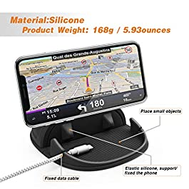 Loncaster Car Phone Holder, Car Phone Mount Silicone Car Pad Mat for Various Dashboards, Slip Free Desk Phone Stand…