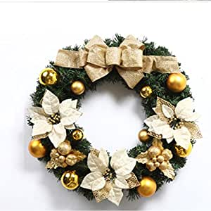 XUEXIN Christmas decorations Christmas Wreath Christmas wreaths Hotel ornaments ornaments ornaments , 60cm gold