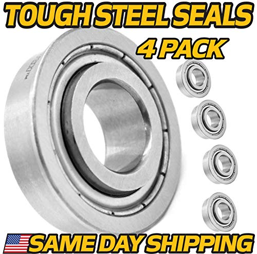 (4 Pack) HD Switch Front Wheel Bearings Replaces/Upgrades Bad Boy Mower 022-7009-00 - w/Tough Steel Seals!