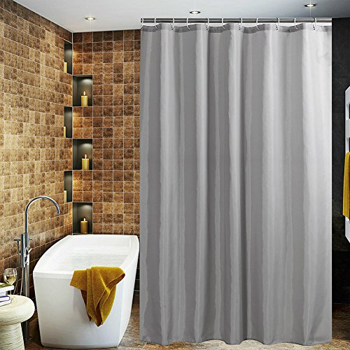 Hot JES&MEDIS Waterproof Polyester Fabric Bathroom Shower Curtain,72-Inch by 72-Inch,Grey supplier