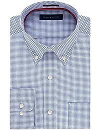 Men's Non Iron Regular Fit Gingham Buttondown Collar...