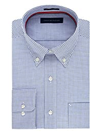 Tommy Hilfiger Men's Regular Fit Non Iron Mini Check